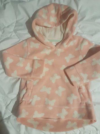 Sweterek w motylki dla dziewczynki,  2-3 lata