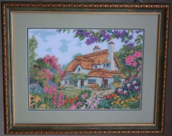 Картина «Коттедж Periwinkle» вышивка крестиком.