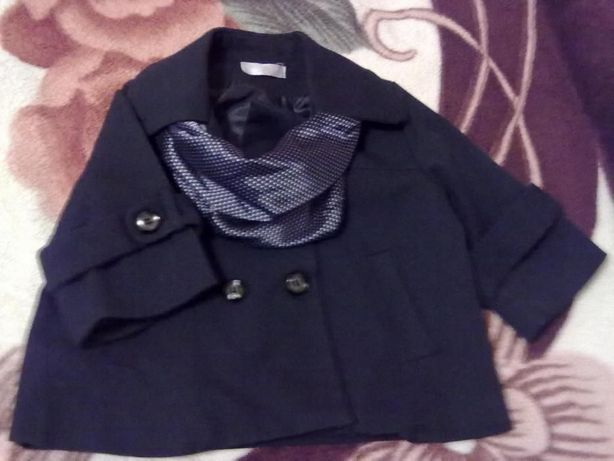Черный пиджак-болеро для школы на рост 122см