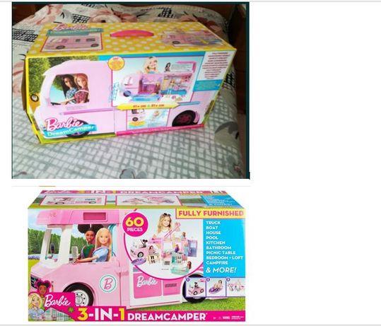 Barbie Caravana de sonho 3 em 1 GHL93 / Autocaravana FBR34 (NOVO)