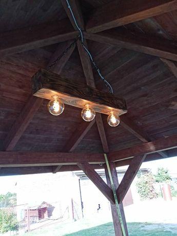 Lampa ze starej belki
