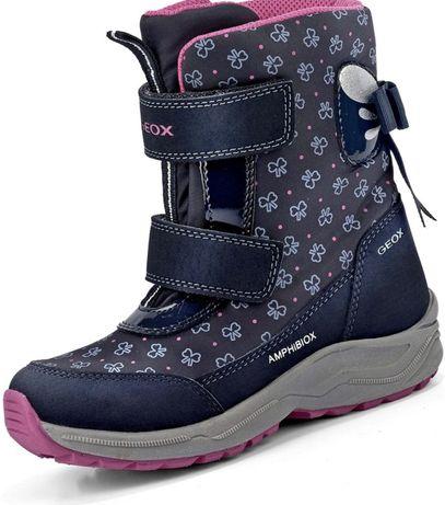 Зимние термо сапоги Geox ботинки на девочку 33 размер