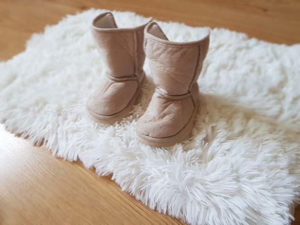 Buty kozaki na zimę rozmiar 20-21, dł. Wkładki 12,5