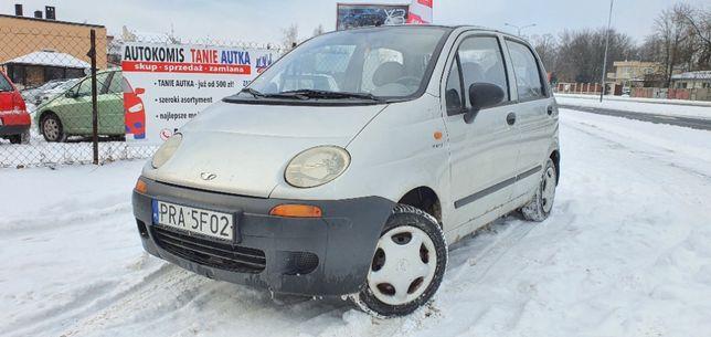 Daewoo Matiz 0.8 benzyna//Niski przebieg//Długie OC//ZAMIANA/RATY