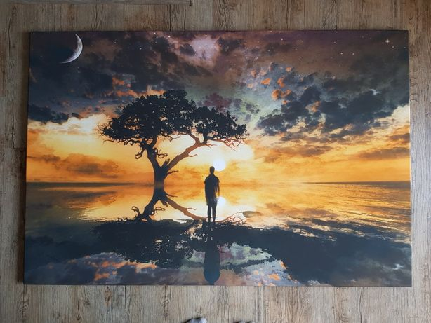 Obraz  zachód słońca 120×80