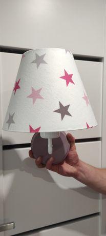 Lampka kinkiet gwiazdy gwiazdki lampa biała pudrowy róż