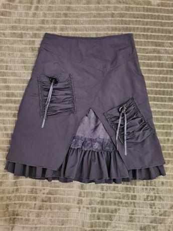Оригинальная утепленная юбка, р.44