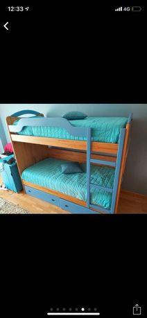 Beliche infantil azul (madeira de lei)