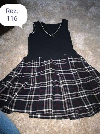 Czarna sukienka 116 galowa