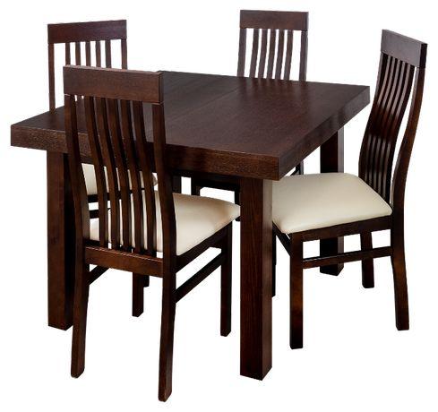 Stół rozkładany pokojowy/kuchenny + krzesła drewniane pokojowe