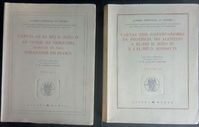 cartas de el-rei d.joão IV ao conde da Vidigueira / marques de nisa
