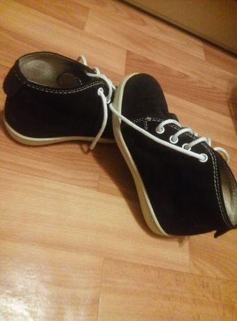 Ортопедические ботинки, натур. замш