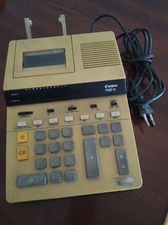 Calculadora de mesa com rolo, marca Canon P35-D