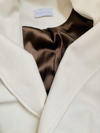 Белое пальто, 36 размер, одето раз