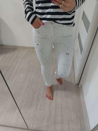 Jeansy białe ZARA