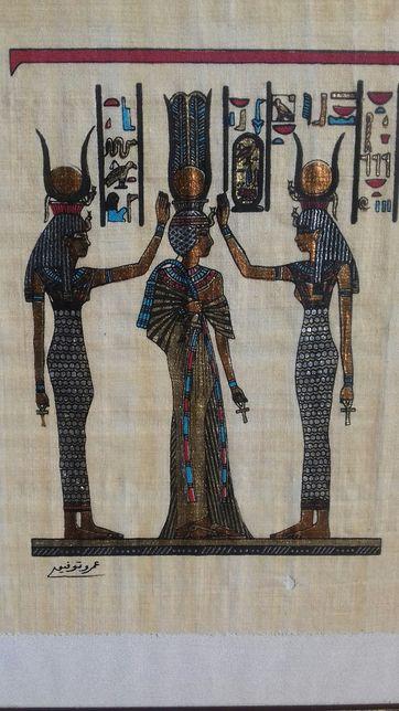 Papirus egipski, obraz egipski