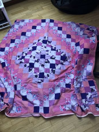 Rozowa kapa patchwork