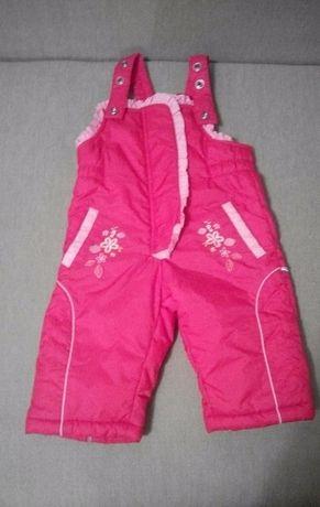 Зимние штаны (полукомбинезон ) на девочку