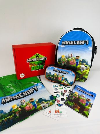 Minecraft Школьный набор Рюкзак пенал Подарочный Бокс Майнкрафт