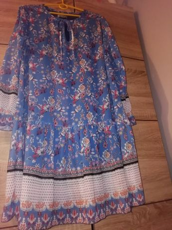 Sukienka w kwiatki 42 L Xl