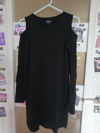 czarna przylegająca sukienka