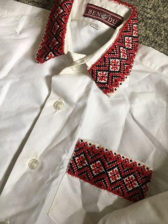 5-6 років Вишиванка Сорочка вишита класична Рубашка вышитая Вышиванка