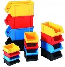 Ящики Лотки Контейнеры пластиковые пластмассовые склад гараж стеллаж