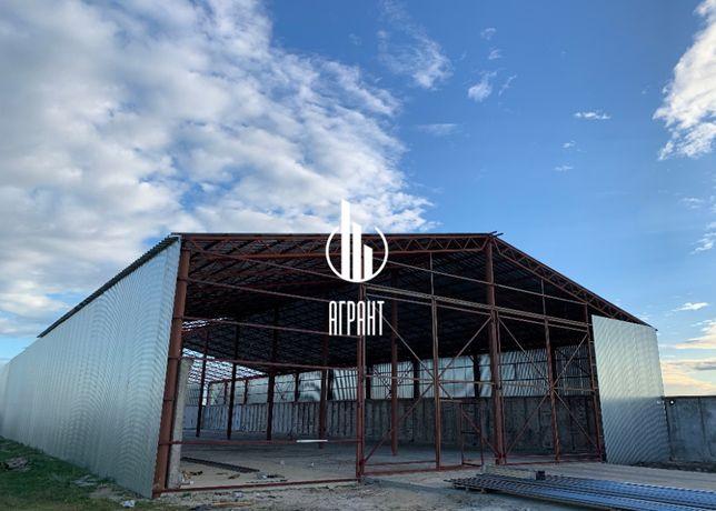 Прямостенный ангар, навес, склад. Строительство и реконструкция кровли