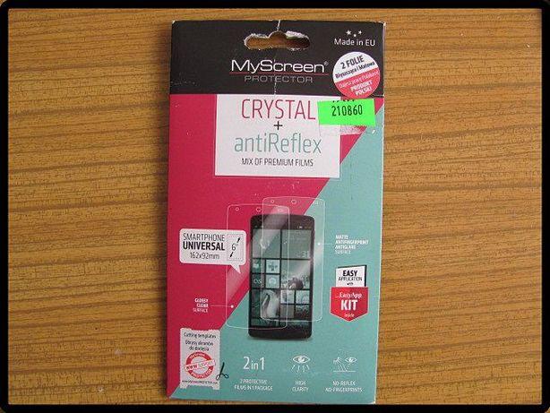 Uniwersalna folia ochronna na ekrany smartfonów 2 szt. NOWA