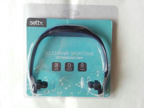 słuchawki sportowe mp3 na kartę micro sd
