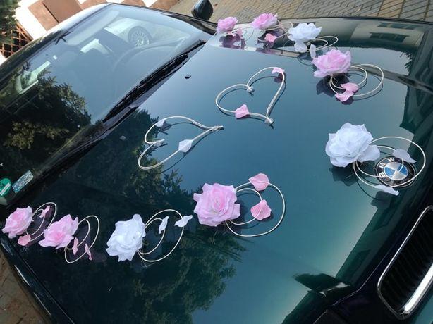 LENA2~ dekoracja auta ~ ślub, stroik, ozdoba, róże