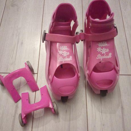 Rolki/ wrotki dziecięce Lazy Town nakładane na buty, regulowane
