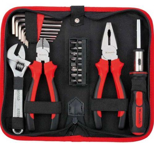 Набор инструментов 22 предмета Бокорезы, плоскогубцы, разводной ключ