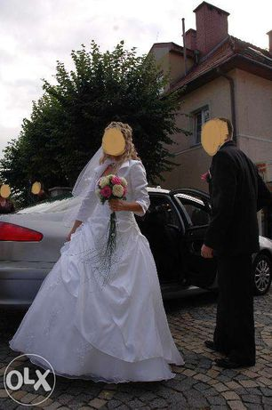 Suknia Ślubna BIEL + Bolerko rozm. 38