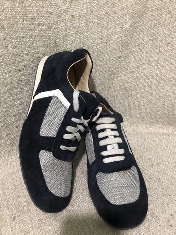 Кожаные мужские кроссовки мокасины Prada 42р Gucci bogner