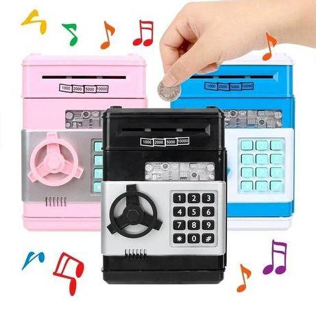 Копилка сейф, детский банкомат с кодовым замком NUMBER BANK АКЦИЯ!!!
