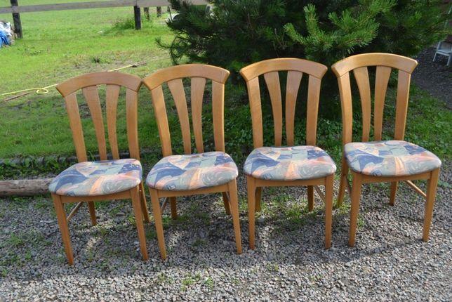 Krzesła dębowe jasne 4 szt OKAZJA