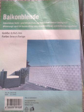 Osłona na balkon technorattan 0,9x5,0 m