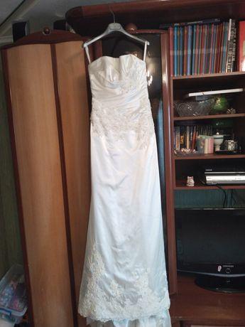 Элегантное свадебное платье, классика, Англия, корсет, шлейф