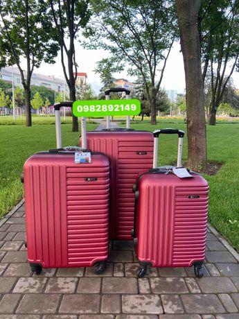 Красные!Чемодан Польша на колесах,валіза,сумка на колесах,дорожная