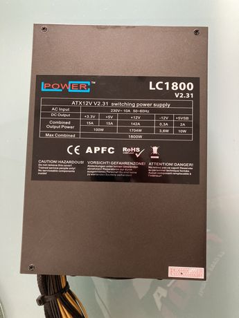 Koparka kryptowalut  - Zasilacz LC Power 1800 W