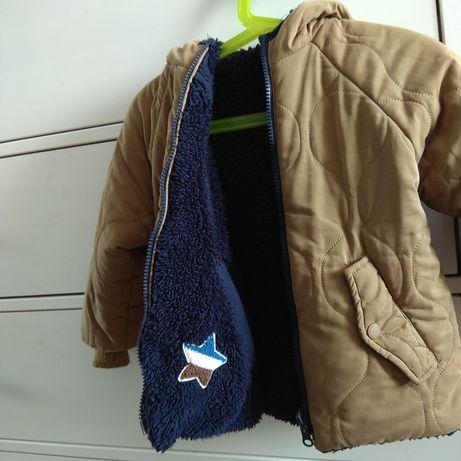 Dwustronna kurtka zimowa Zara rozm 92-98