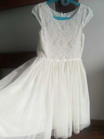 Sukienka 128 biała