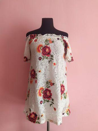 Туника платье new look принт цветы размер s-m
