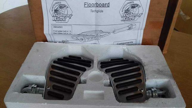 Conjunto de pousa-pes da marca Highway Hawk, para Honda VT750 Shadow.