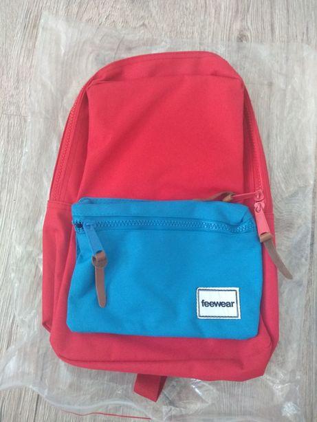 Nowy mały plecak Feewear czerwony  niebieski