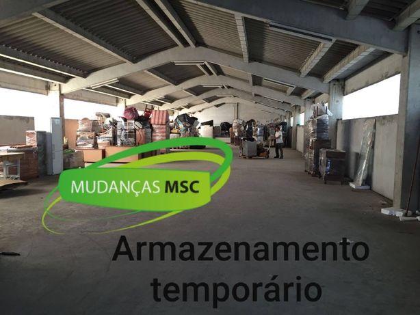 Armazenamento temporário garagem armazém