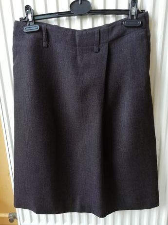 Spódnica brązowa ciepła h&m kieszenie r. 38