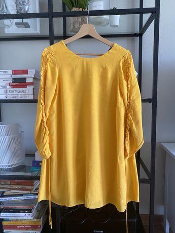 Vestido / tunica amarelo xs