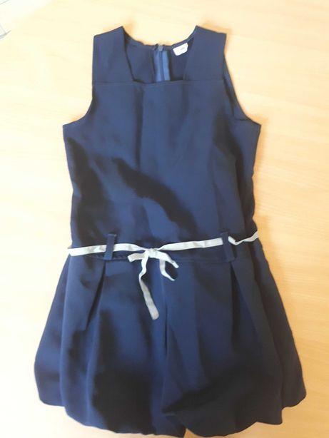 Sukienka granatowa bombka,rozmiar 128-134